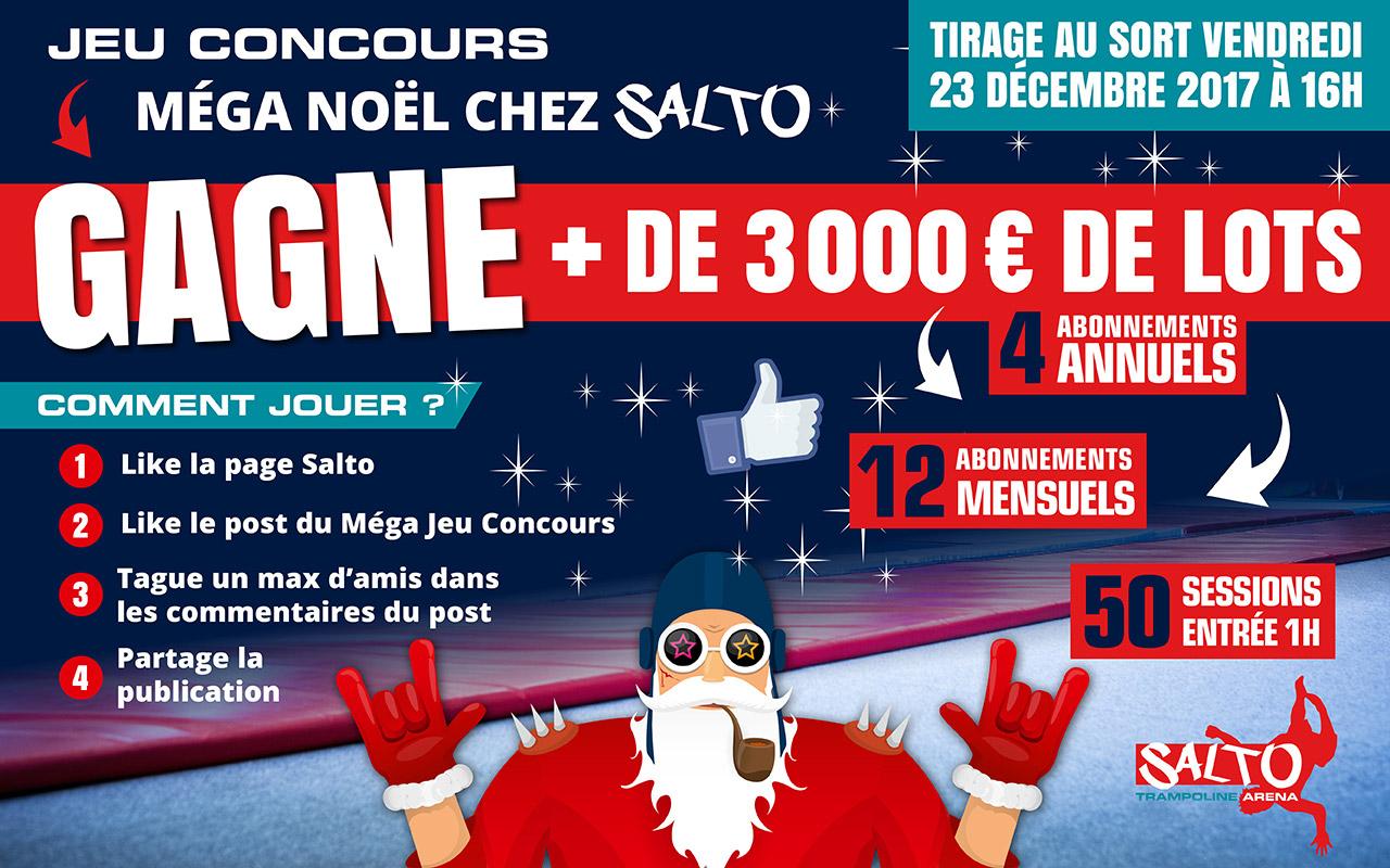 Mega Jeu Concours De Noel Salto Trampoline Arena