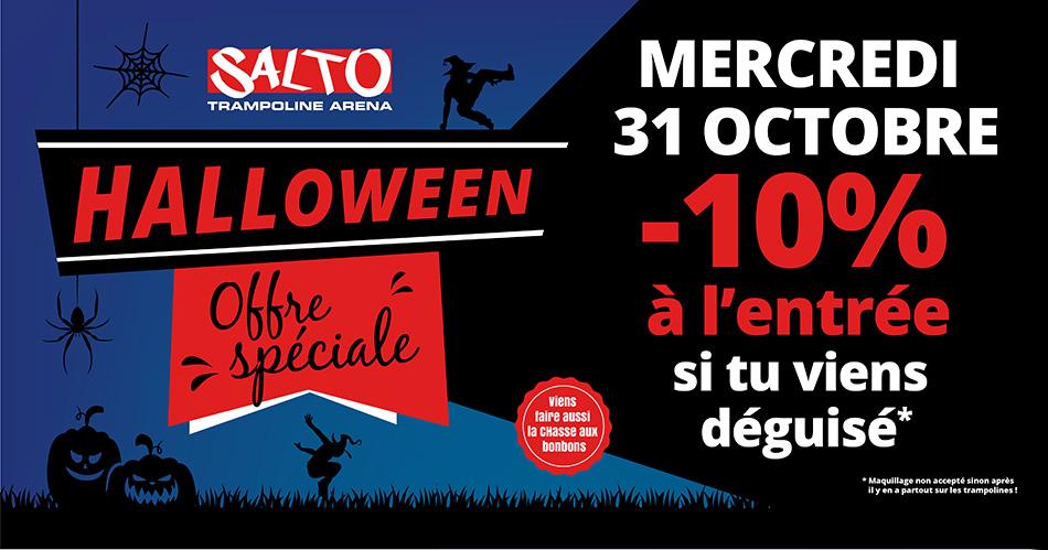 Offre Halloween chez Salto - 10% de remise si déguisé